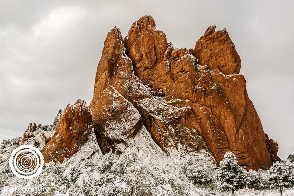 Silent Snow - South Gateway Rock - Garden of the Gods - Colorado Springs
